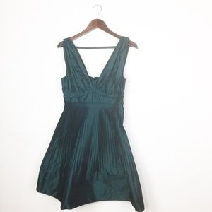 BCBGeneration Dresses - BCBGeneration Pleated Green Cocktail Dress